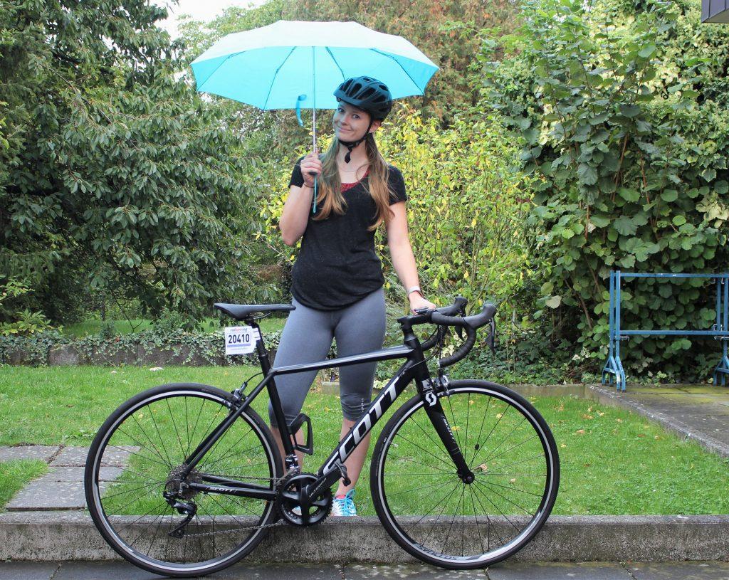 Rennradfahren im Regen