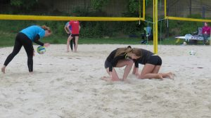 Beachvolleyball Abwehr
