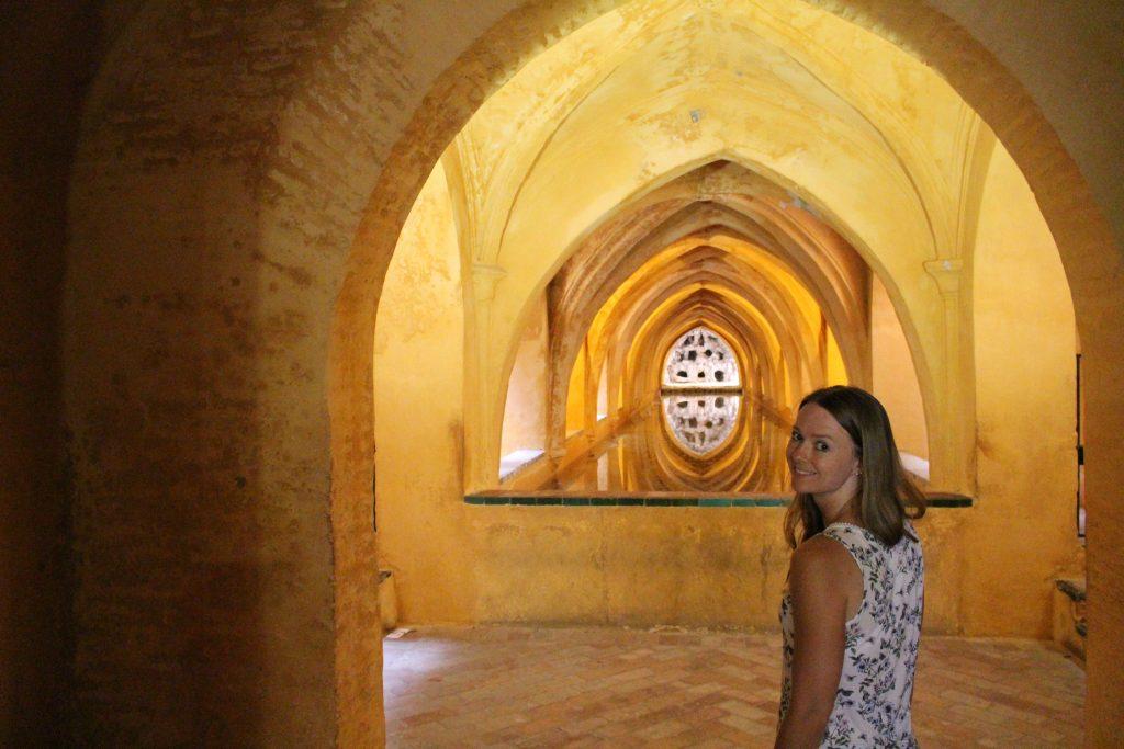 Lichtspiel im Alcazar von Sevilla