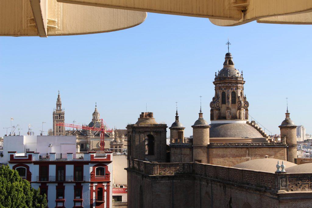 Blick von Las Setas in Sevilla